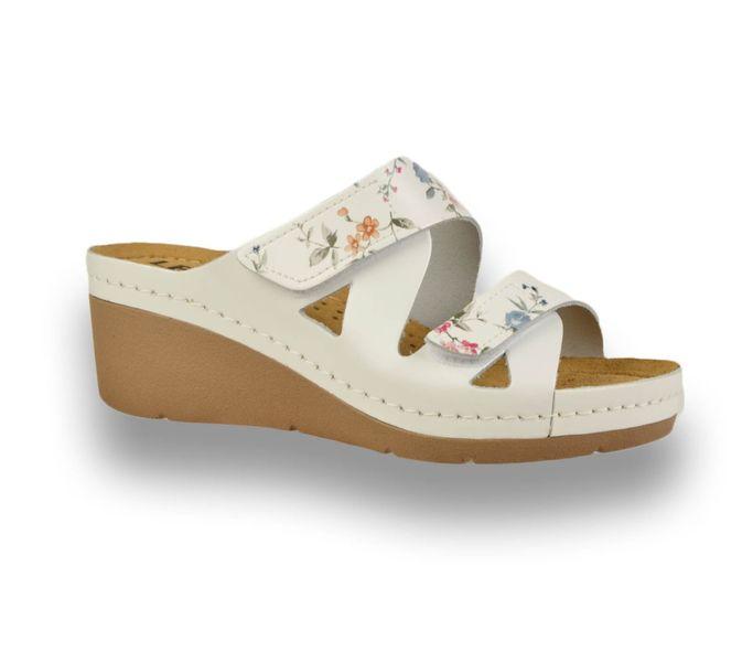 Comfort Papucs női papucs - 1004 White/Flower